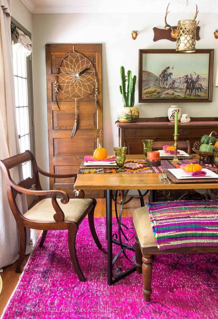eclectic bohemian style fall dining room awesome colors far above rubies eclectically fall on boho chic decor living room bohemian kitchen id=22989
