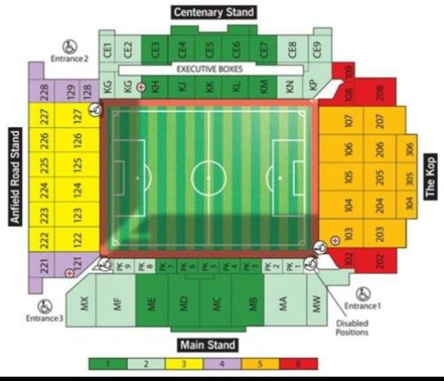 Anfield Seating Plan | Liverpool f.c. YNWA | Pinterest ...