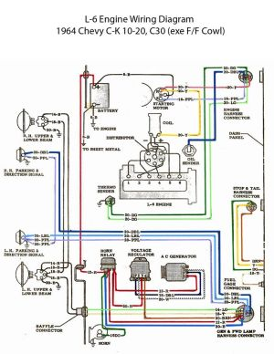ELECTRIC: L6 Engine Wiring Diagram | Chevy 6 | Pinterest