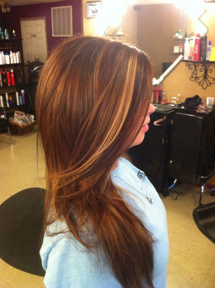 Auburn Hair With Highlights And Lowlights Highlights In