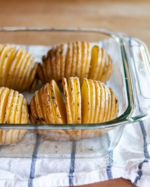 How To Make Hasselback Potatoes Cooking Lessons from The Kitchn   The Kitchn