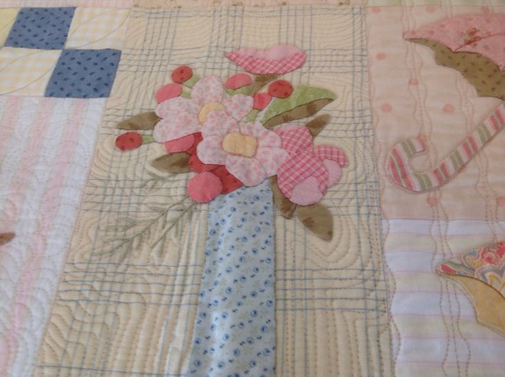 Flowers In Vase Block From Primavera Quilt Verna