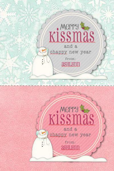 Merry Kissmas Tag TEMPLATE 115434 By Cassie Balser 4 X 6