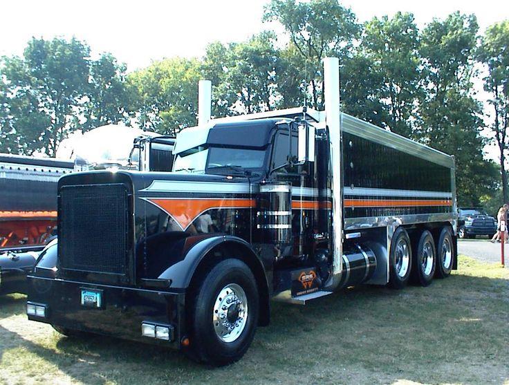 Black Pete Dump Trucks Pinterest Black