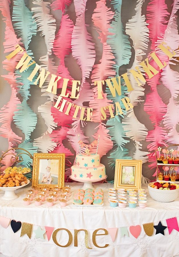 "This ""Twinkle Twinkle Little Star"" first birthday party is a fabulous way to celebrate your baby turning 1 year old. With"