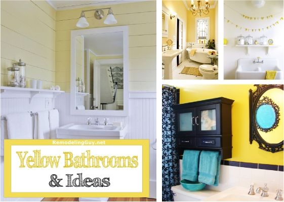 Top 25 Ideas About Yellow Bathrooms On Pinterest
