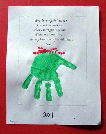 Everlasting Mistletoe – Parent Hand Print Gift