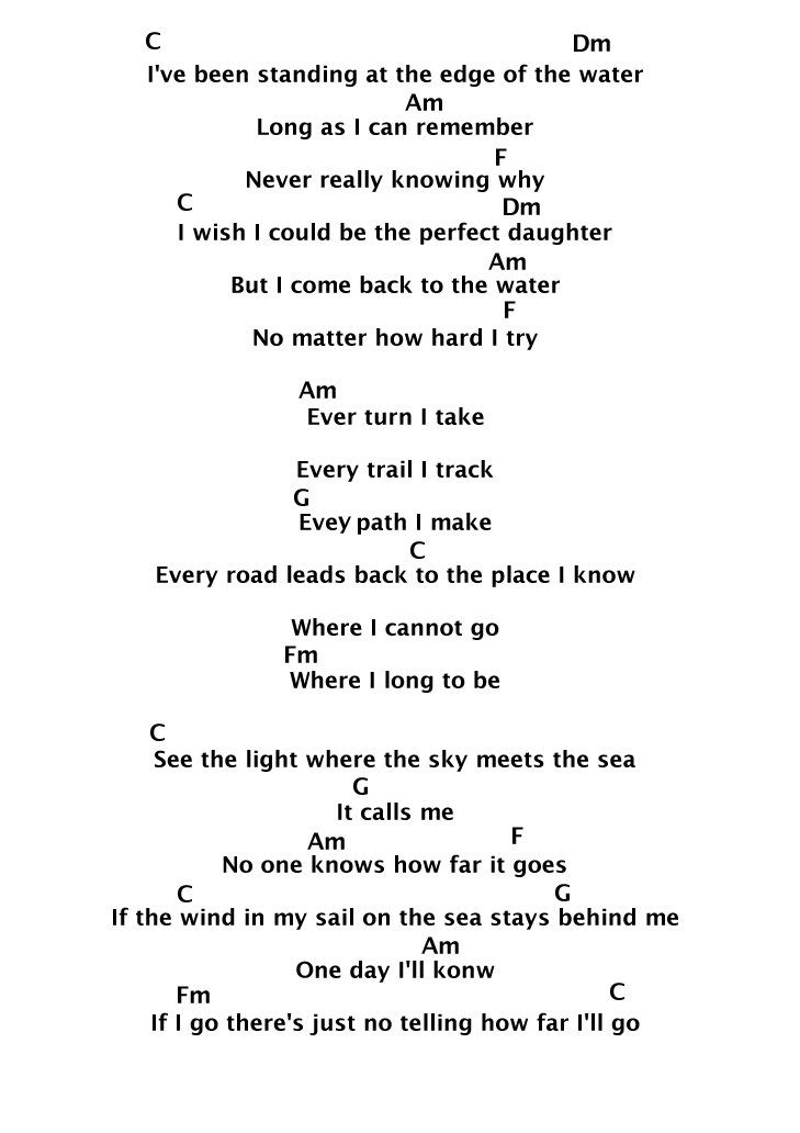 How Far Ill Go Piano Sheet Music Lyrics