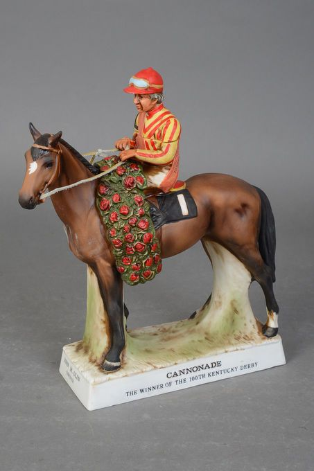 Cannonade Lionstone Sculptured Porcelain Decanter 1976