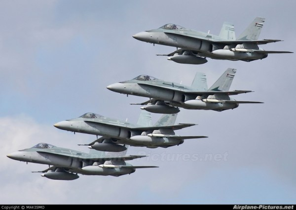 Royal Australian Air Force F/A-18 Hornet Formation ...