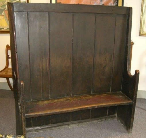 A Settle Bench English 18 19th Century They Set It