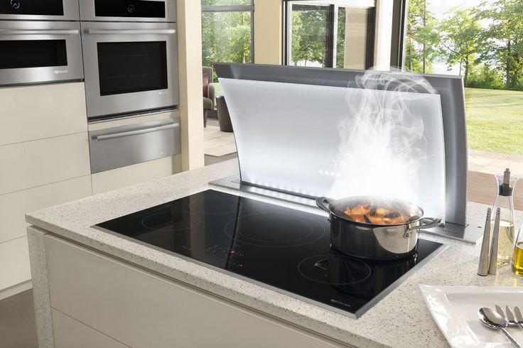 Jenn Airs 36 Induction Cooktop Paired With A Downdraft
