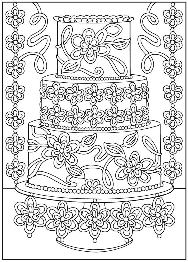 creative haven designer desserts coloring book  coloring