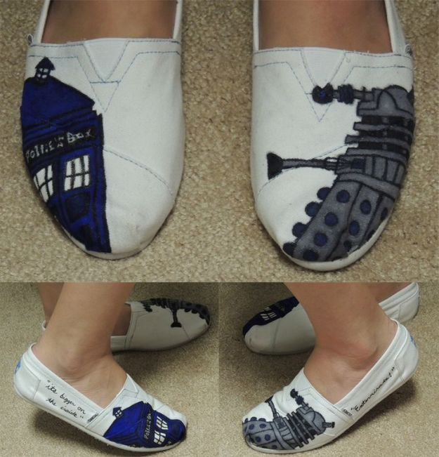 DIY Doctor Who inspired flats.