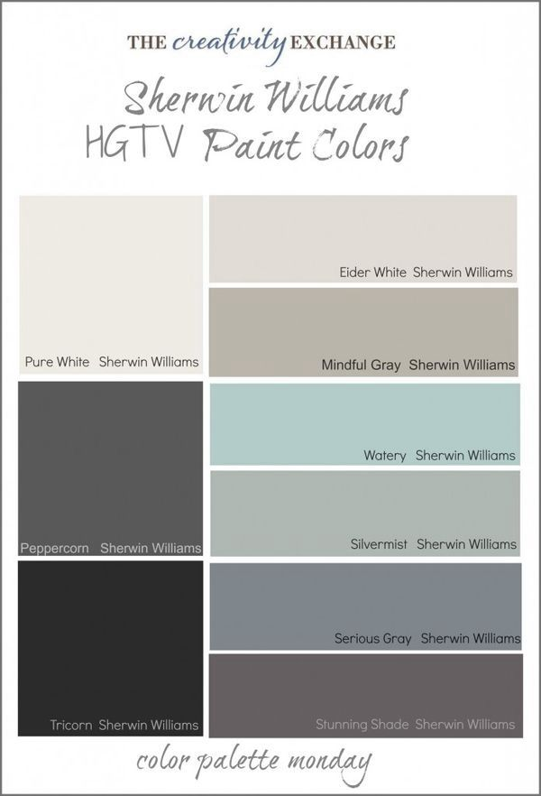 Sherwin Williams I Like Watery And Silver Mist Spaces