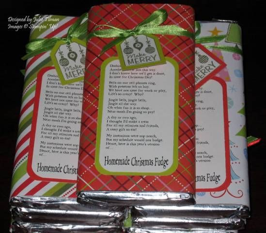 Christmas Fudge Adorably Funny Poem For Candy Bar