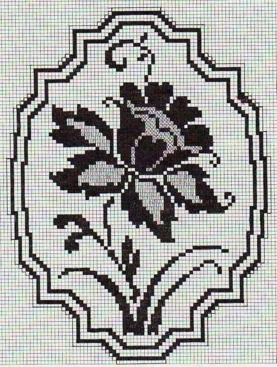 Checkered Filet Crochet Alphabet S