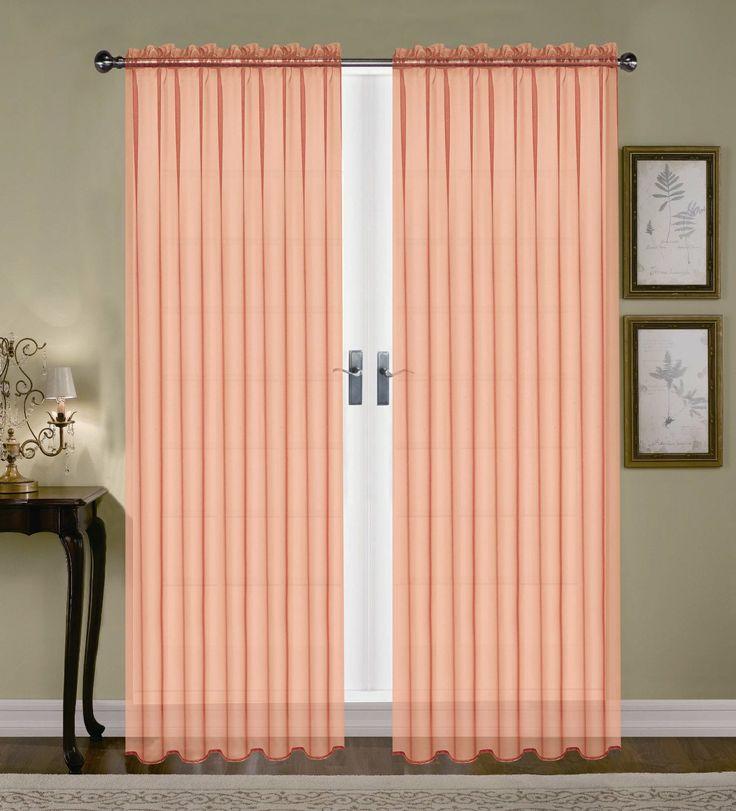 Product Monique Sheer Rod Pocket Curtain Peach Comforter Bedspreads Sheets B Little Girls