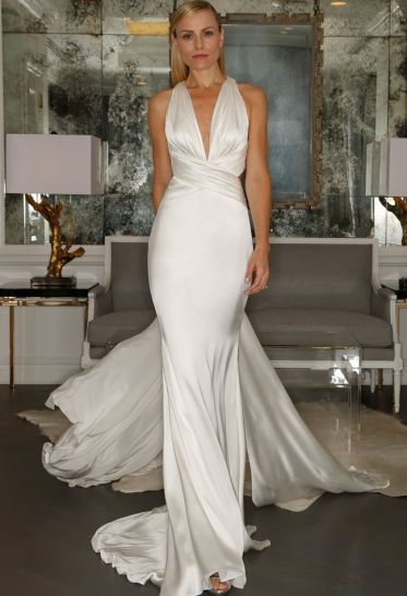 Silk Halter Wedding Dress | Romona Kaveza Collection Fall 2015 | blog.theknot.com
