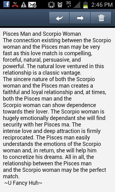 Scorpio male pisces female compatibility