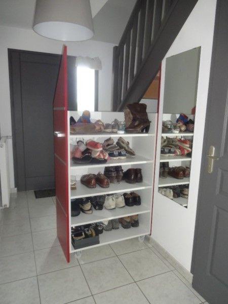 rangement chaussures sous escalier ikea