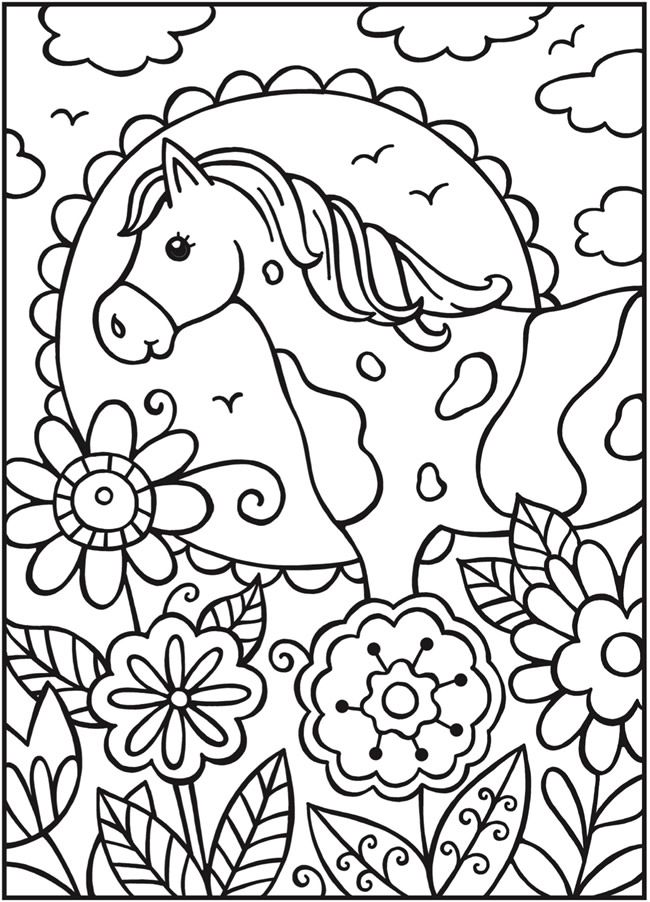welcome to dover publications  spark horses  coloring