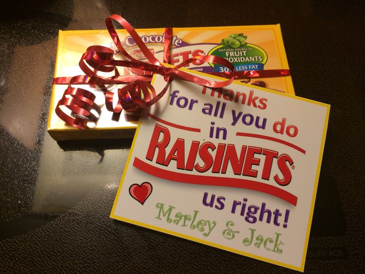 Teacher Appreciation Gift Raisinets Im A Great Aunt