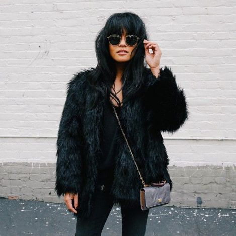 A fur jacket is fashion hacks that make getting ready for morning seminars a breeze !