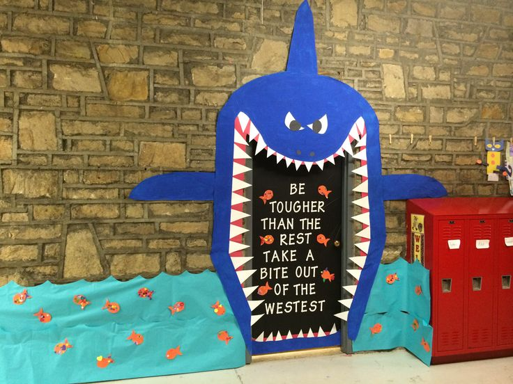 My Door Shark For The Decorating Contest Teaching