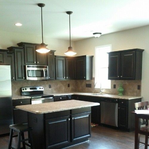 Cabinets And Dark Dark Floors