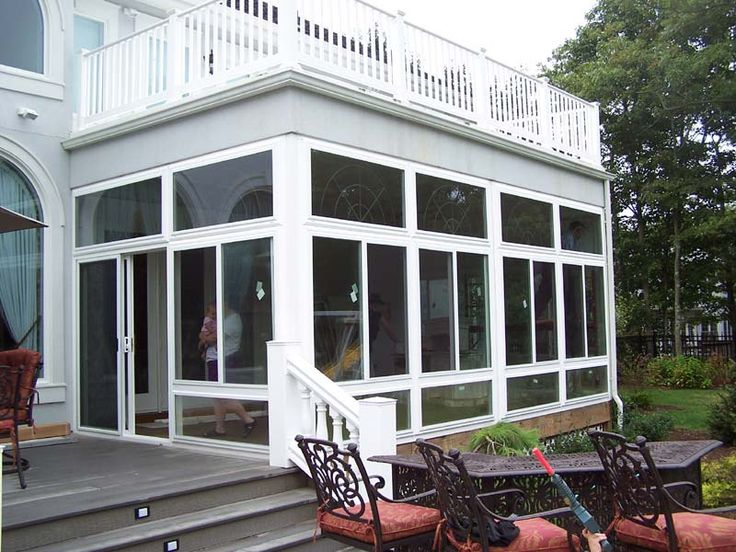 enclosed porches sunrooms vinyl patio enclosures on awesome deck patio outdoor lighting ideas that lighten up your space id=93397