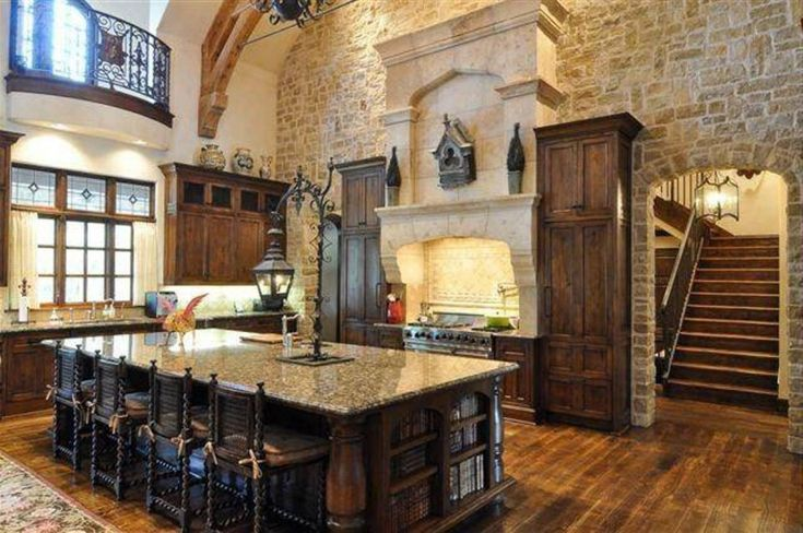 Kitchen, : Heavenly Tuscan Kitchen Decoration Using Cream