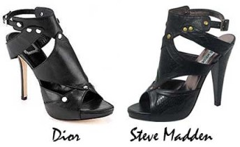 I loved Dior's extreme gladiator sandals when I saw Carrie Bradshaw step out in them in the Sex in the City movie, but knew I'd never have them. Then Steve Madden came out with his version and I like them ever better!