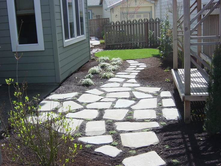 17 Best images about Stone Patio Ideas on Pinterest ... on Stepping Stone Patio Ideas  id=70012