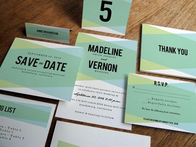 Wilton Scrollwork Wedding Invitation