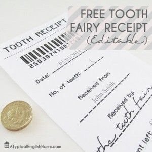 Free Free Tooth Fairy Receipt Template Printable #247moms