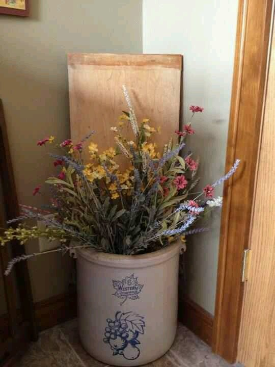 27 Best Images About Decorating With Old Crocks On Pinterest