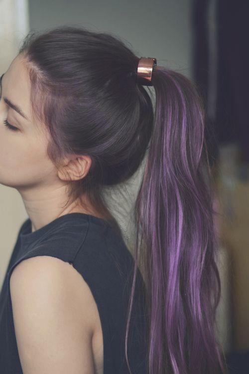 Purple hair, ready for summ