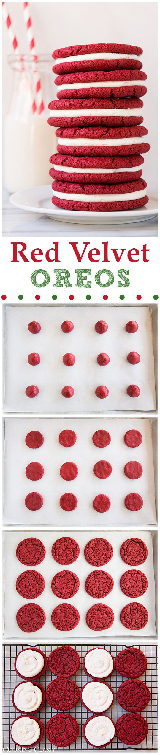 Red Velvet Oreo Cookies – these cookies are unbelievably delicious! If you like red velvet you will LOVE t