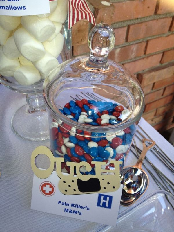 Pain pill M & M's | Medical themed candy bar/party ...