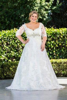 Llamativos vestidos de novia para gorditas | Alternativas de vestidos de bodas
