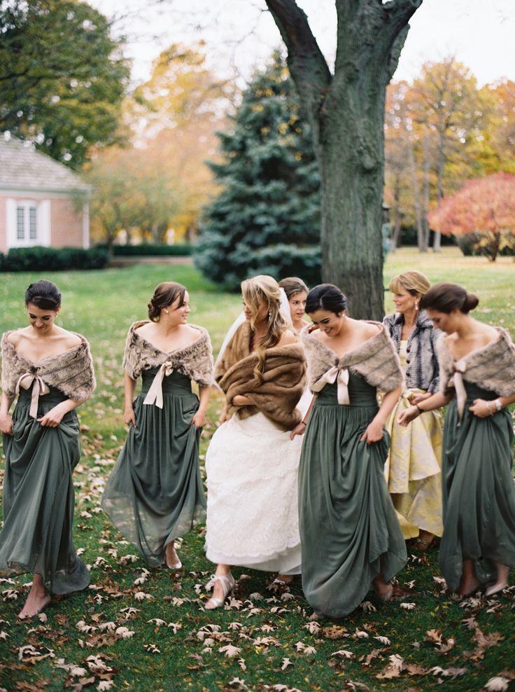 Traditional Wisconsin Wedding In Warm Fall Tones Via