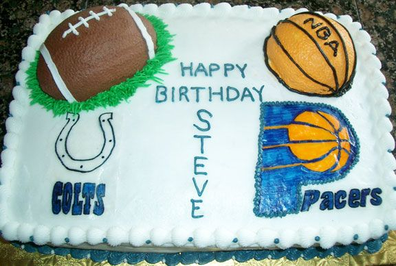 Steve S Cake Pacers Amp Colts Fan Cakes Pinterest Cake