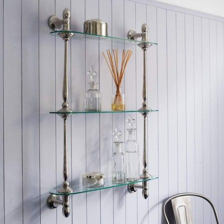 Glass Bathroom Shelves Chrome WoodWorking Projects Amp Plans