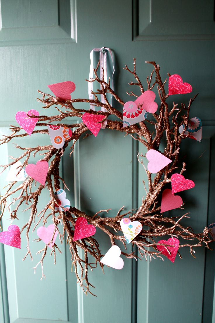 My Valentines Wreath I Made For My Front Door Old