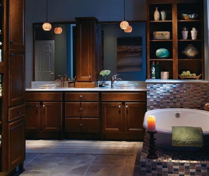 Dark Maple bathroom cabinets by Homecrest Cabinetry   Home ... on Dark Maple Cabinets  id=15961