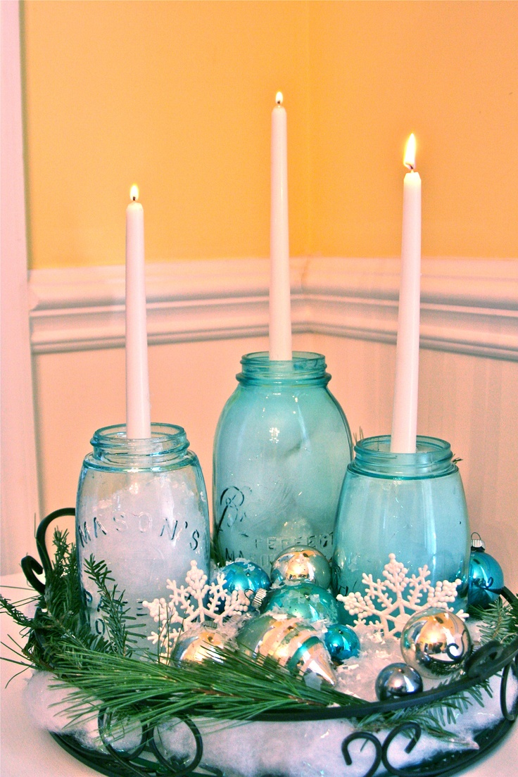 17 Best Images About Mason Jars Centerpices On Pinterest Mason Jar Centerpieces Jars And Vase