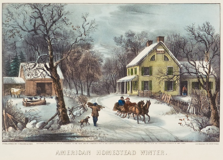 American Homestead Winter Currier Amp Ives 1868 Days