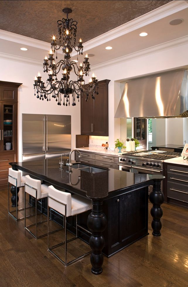 55 best images about black kitchens on pinterest traditional dark wood kitchens and on kitchen cabinets modern contemporary id=48849