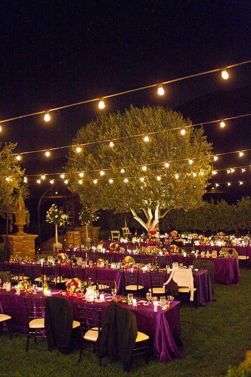 17 Best Ideas About Outdoor Night Wedding On Pinterest